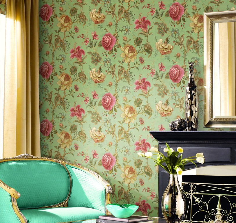 Flower Wallpaper Room