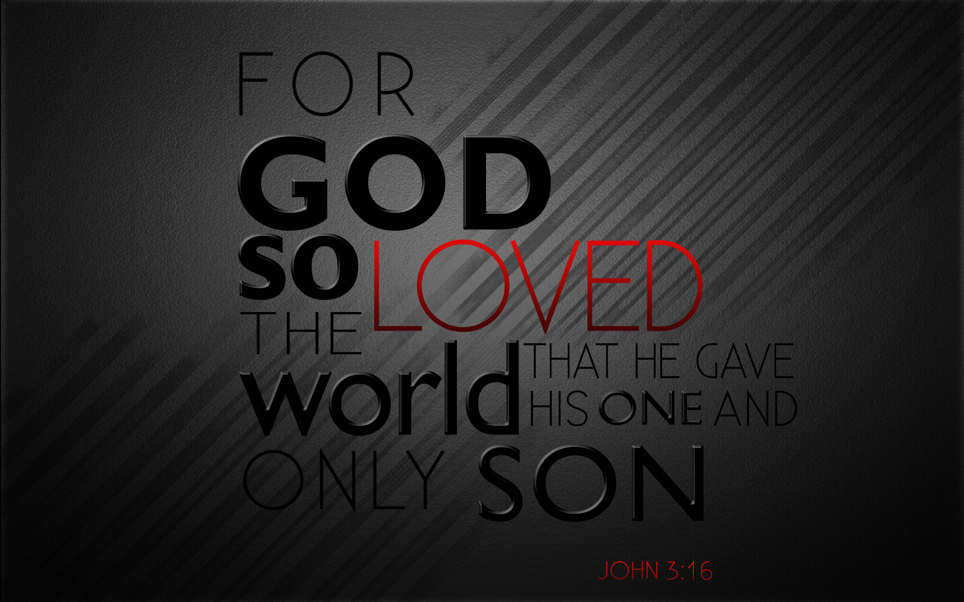 For God So Loved The World Wallpaper