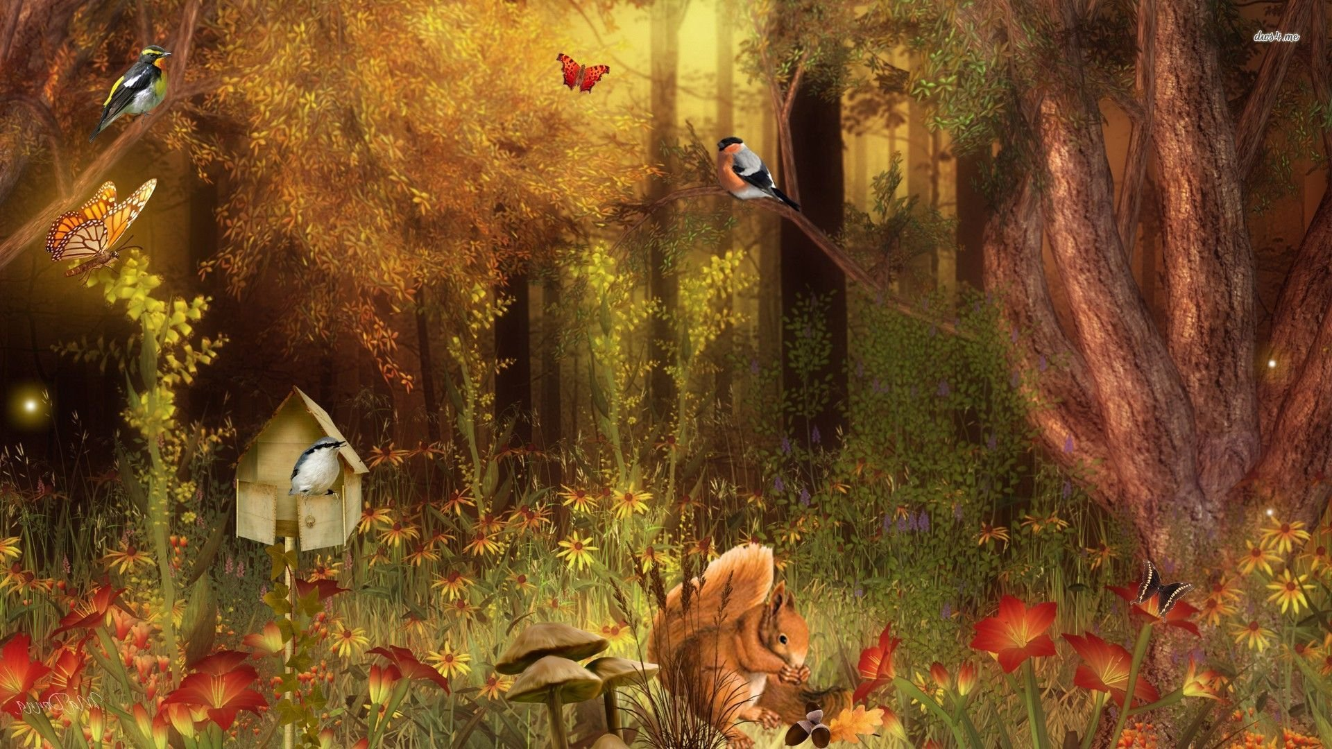 Forest Wallpaper With Animals