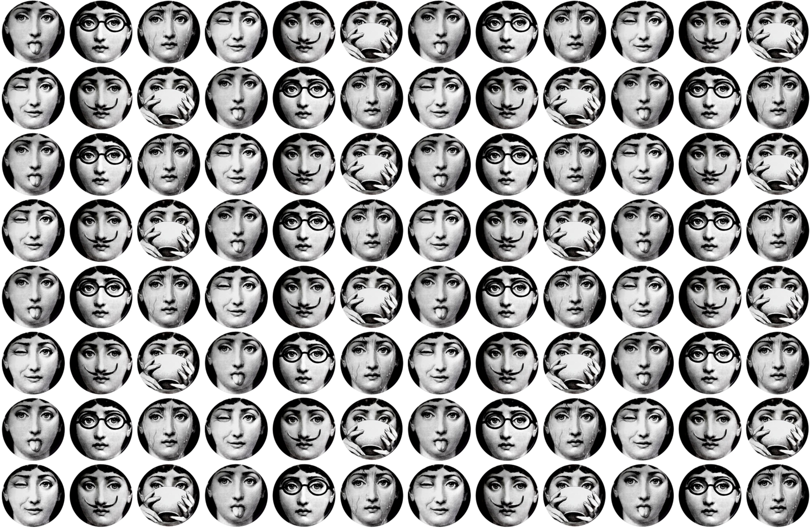 Fornasetti Wallpaper Faces