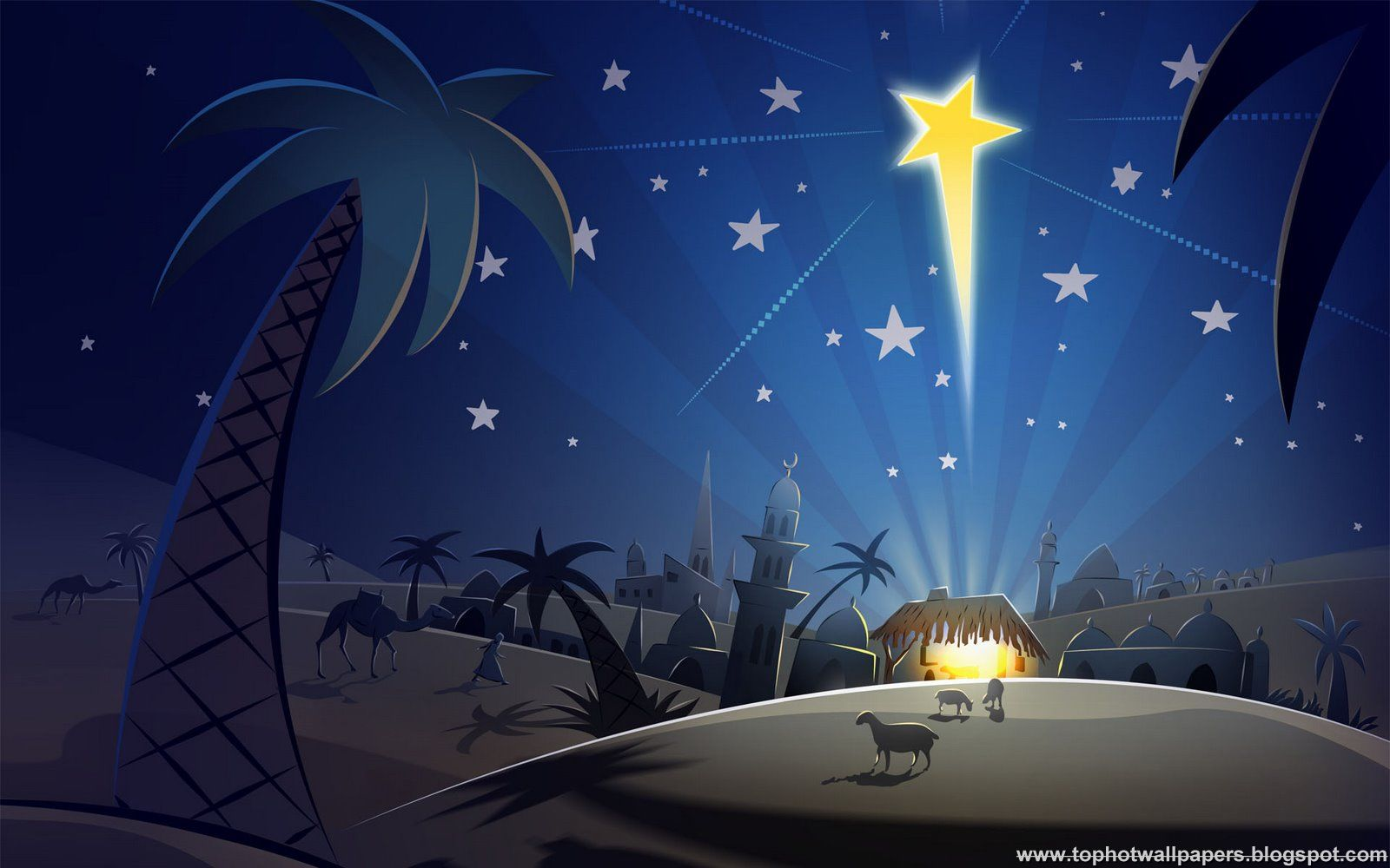 Free Christian Christmas Wallpaper