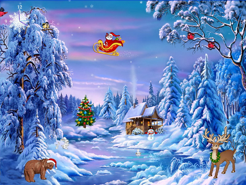 Free Christmas Moving Wallpaper