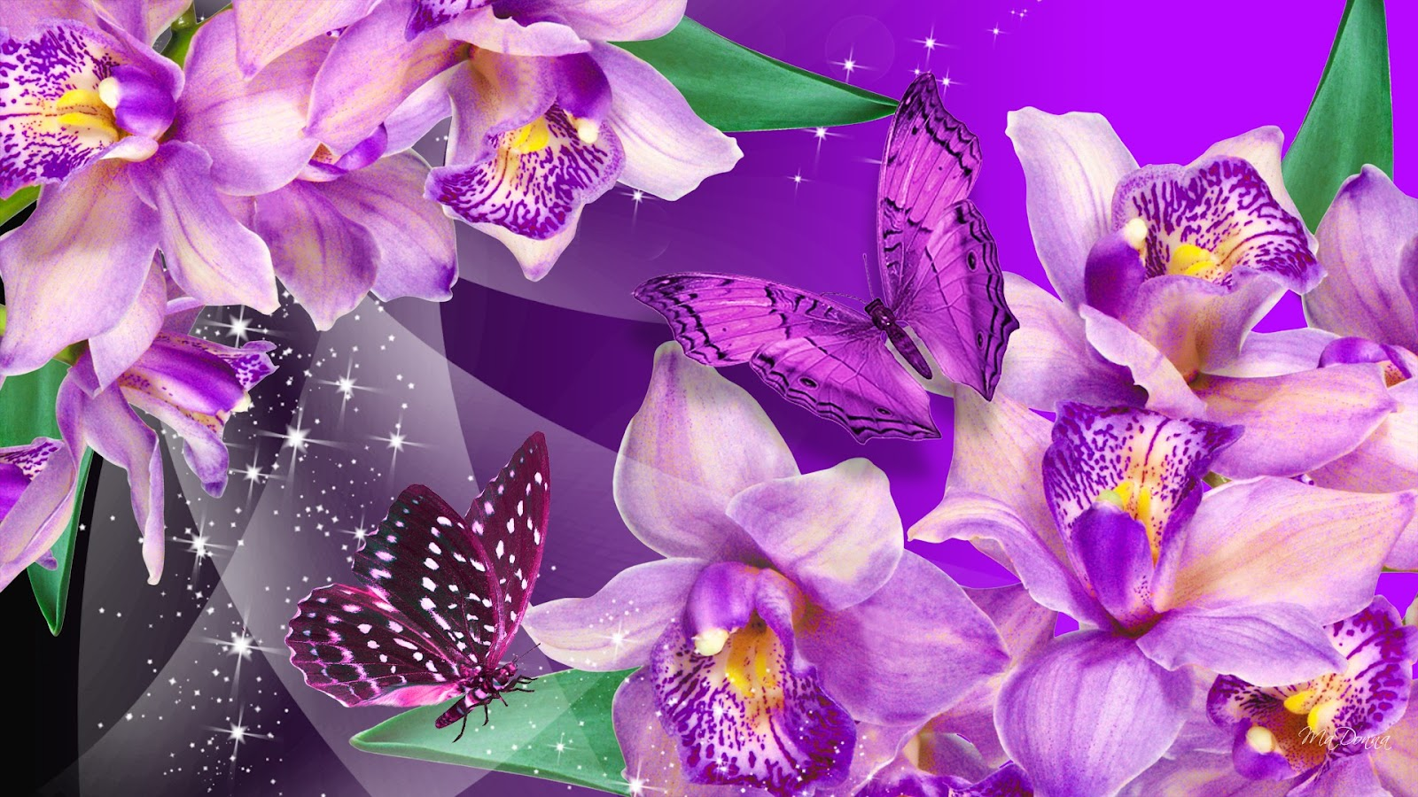 Free Purple Butterfly Wallpaper