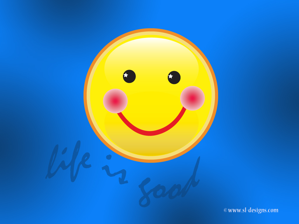 Free Smiley Face Wallpaper