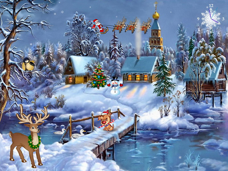 Free Xmas Wallpaper Screensavers