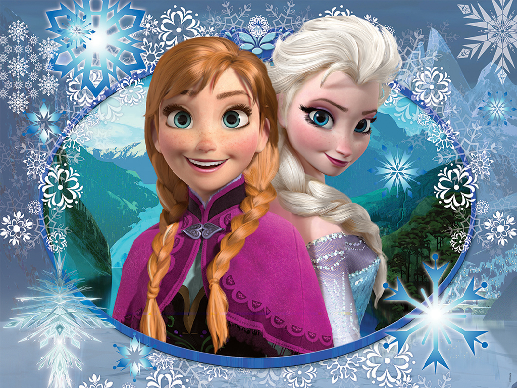 Download frozen wallpaper anna and elsa gallery for Frozen disegni