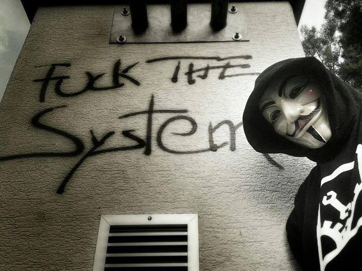 Fuck The System Wallpaper