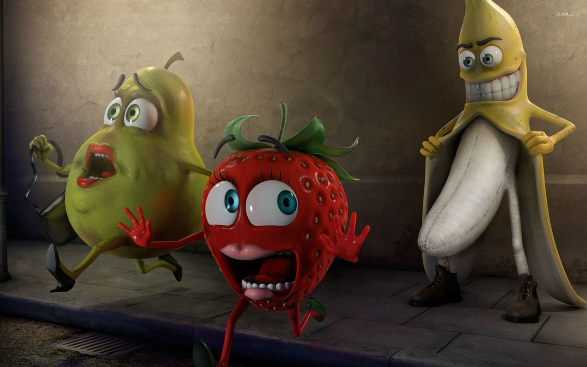 Funny Fruits Wallpaper