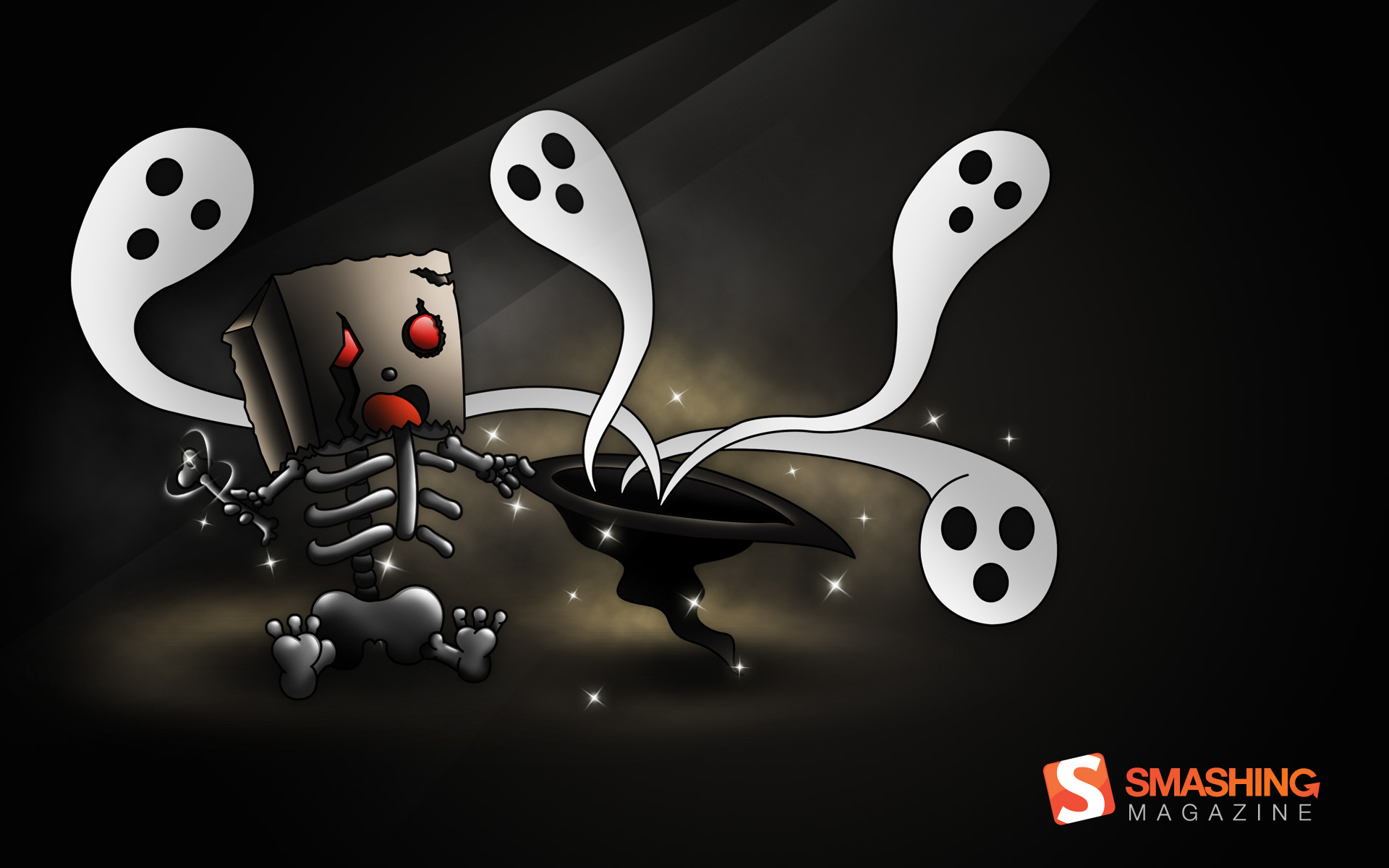 Funny Ghost Wallpaper