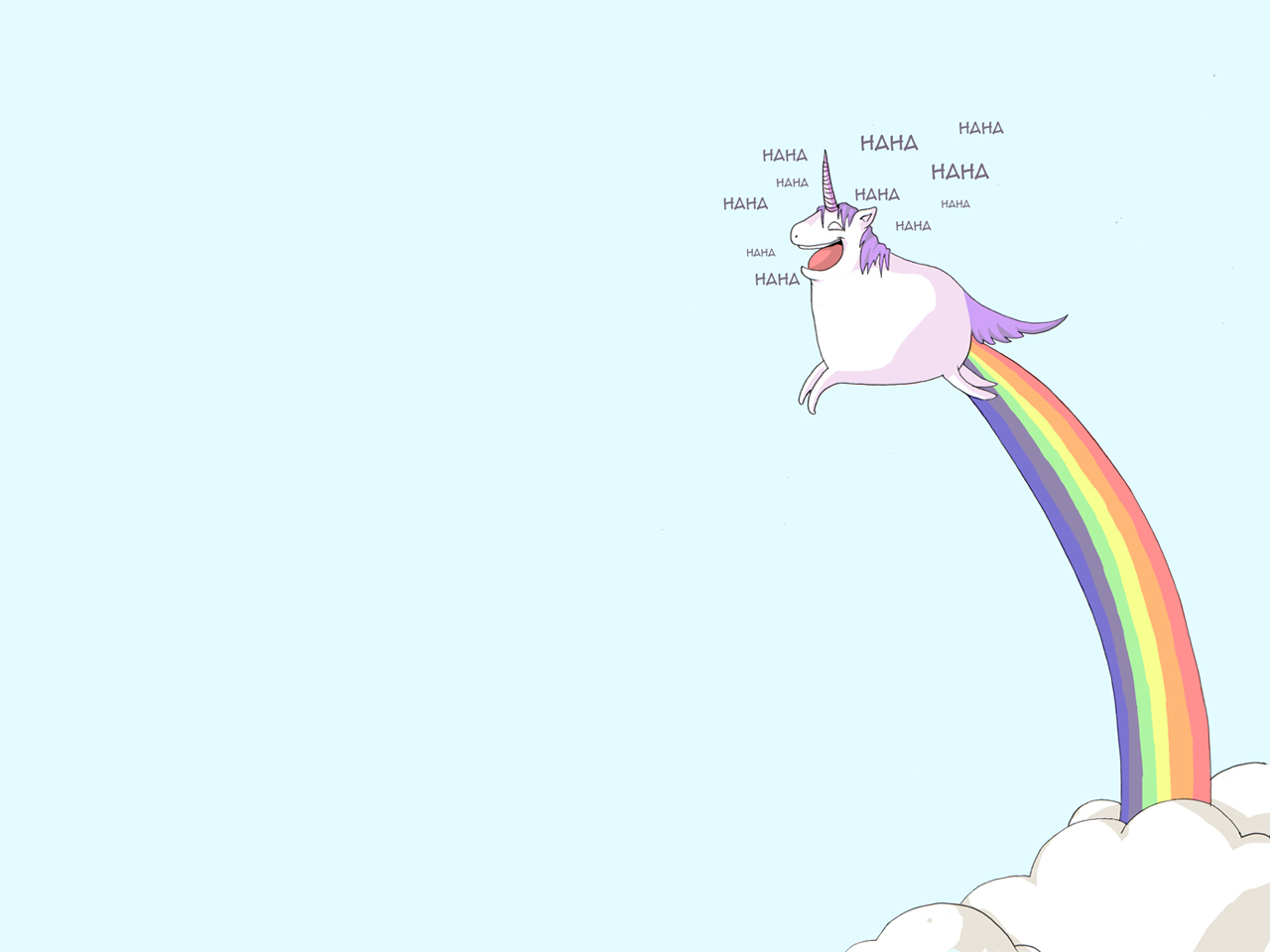 Funny Unicorn Wallpaper
