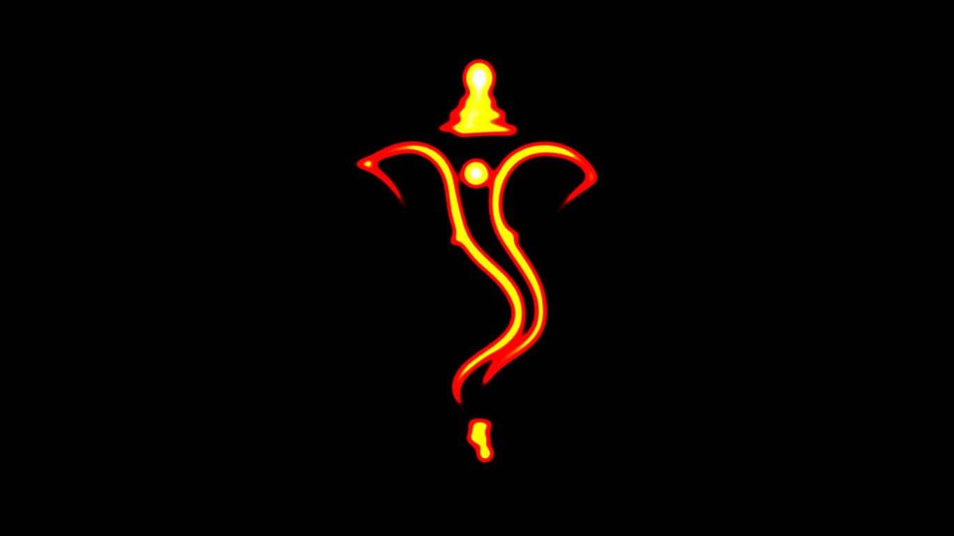 Ganpati Wallpapers In Black Background