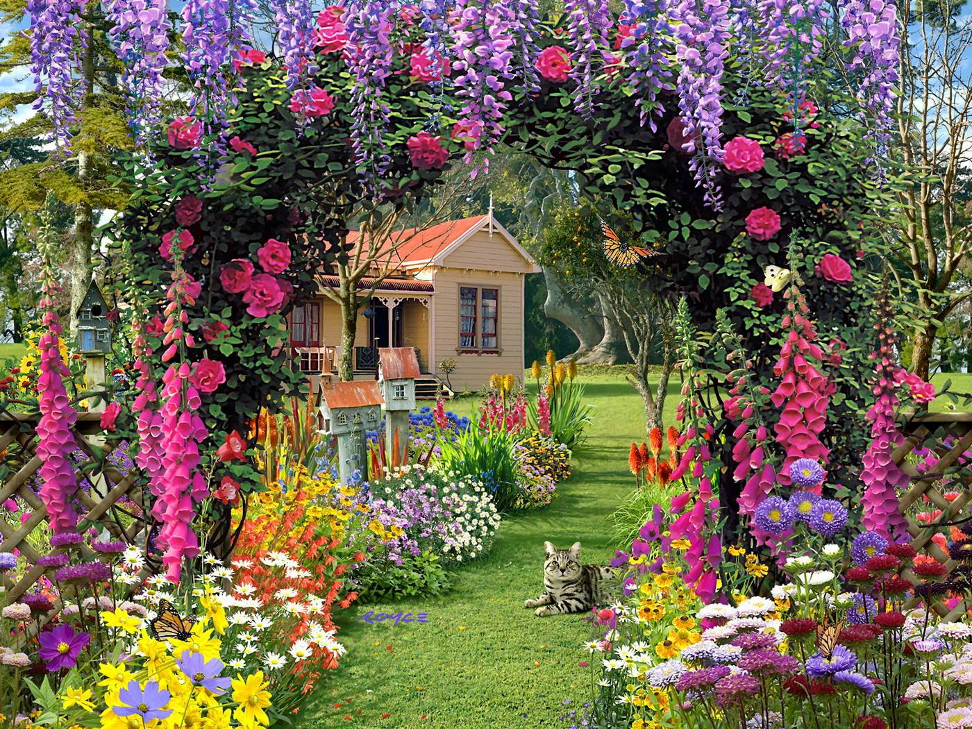 Garden Background Wallpaper