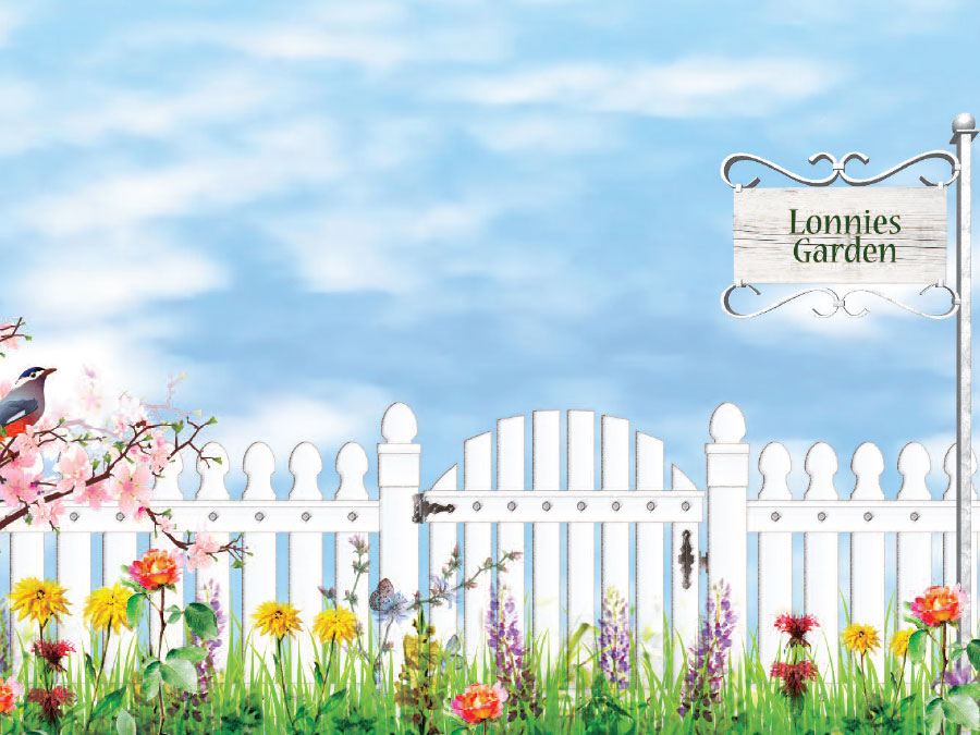 Garden Themed Wallpaper