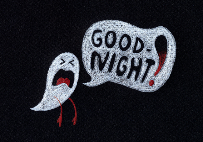 Ghost Good Night Wallpaper