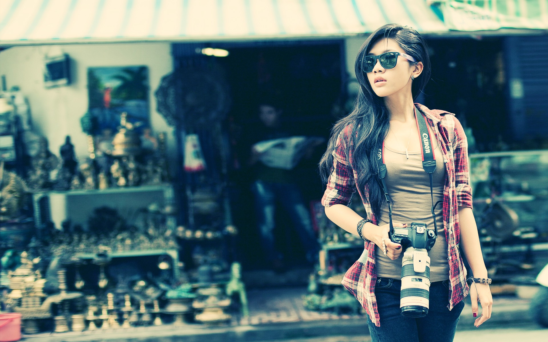 Download Girl With Camera Wallpaper Gallery