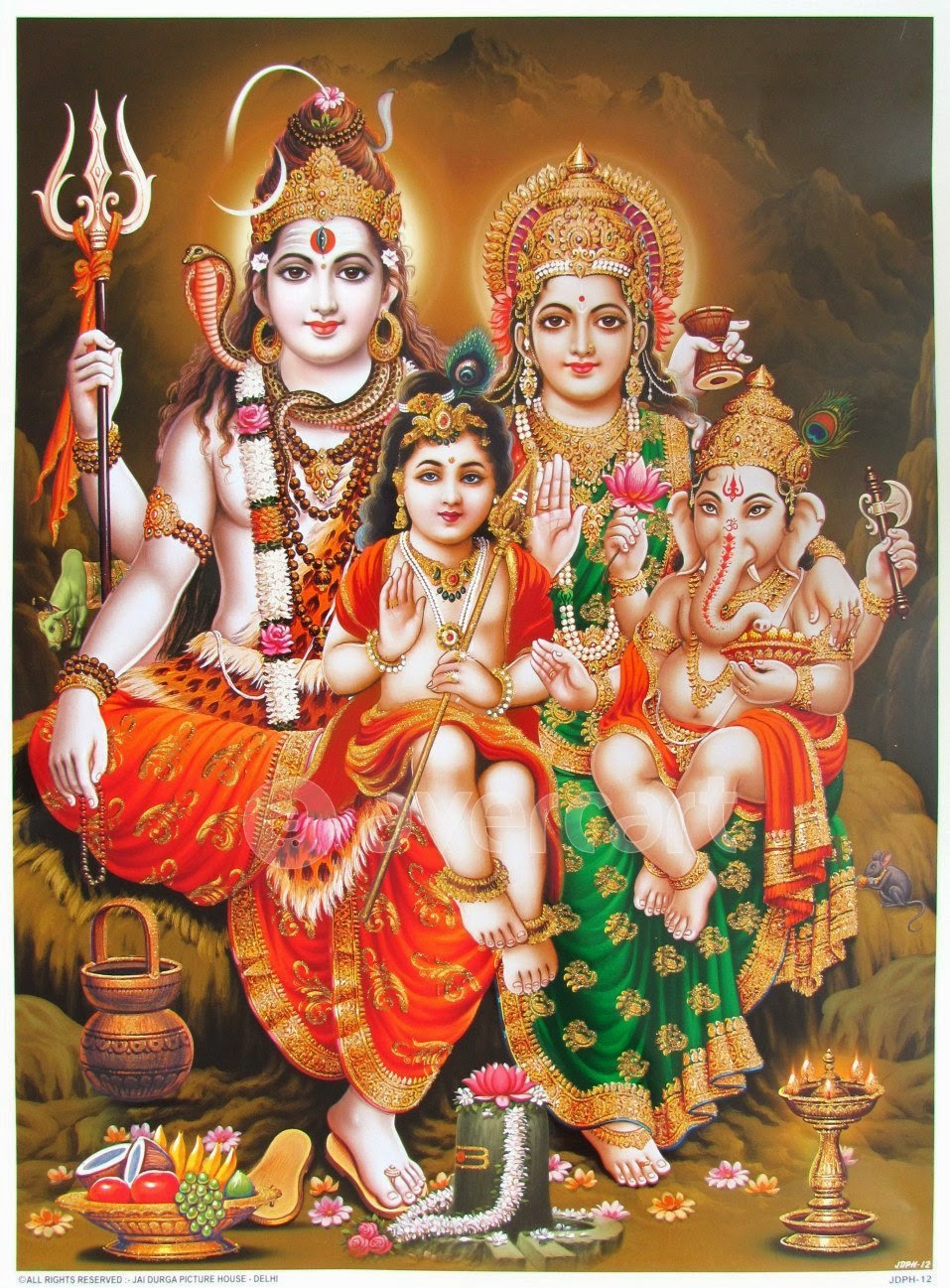 God Shiva Family Wallpaper