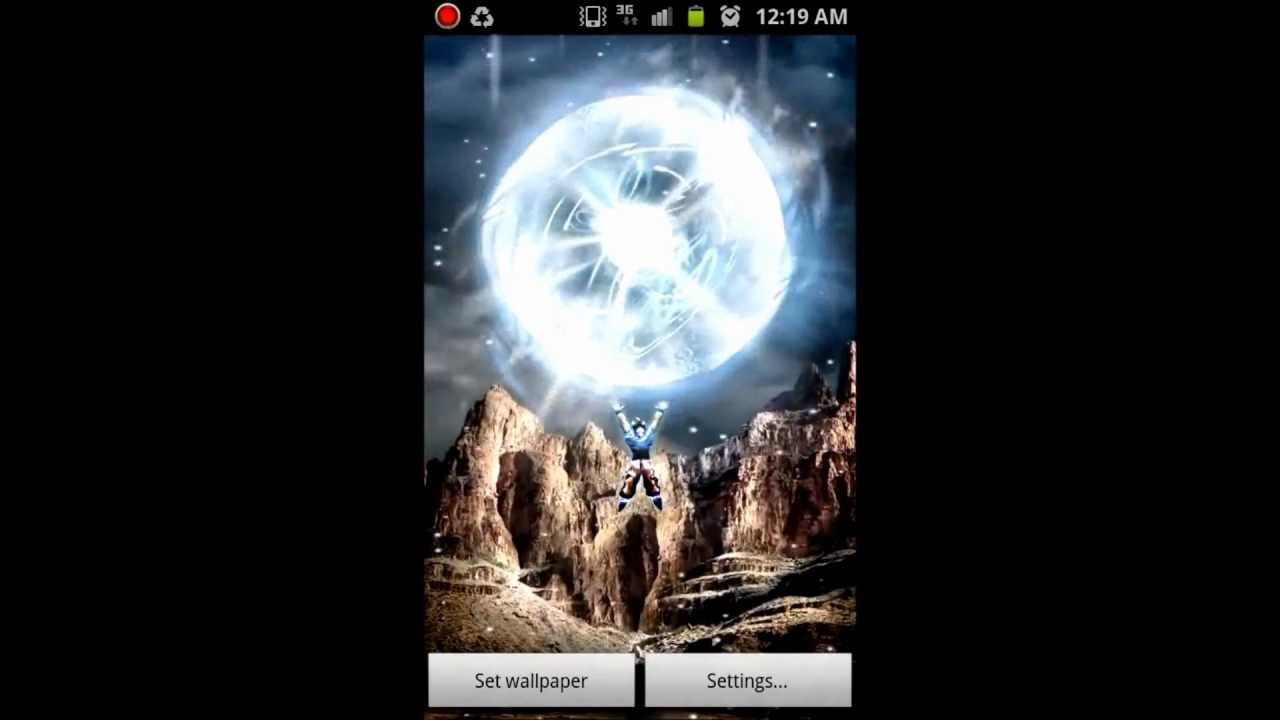 Goku Spirit Bomb Live Wallpaper