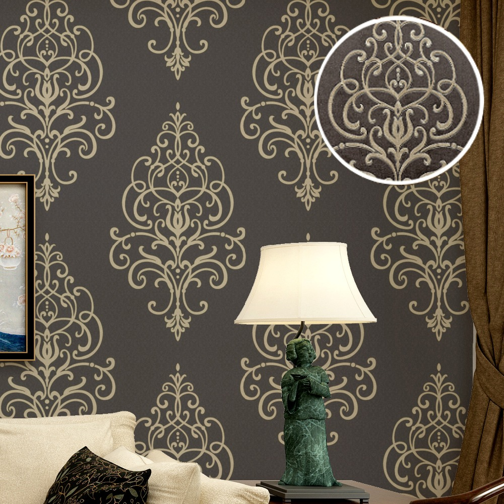 download gold and brown damask wallpaper gallery
