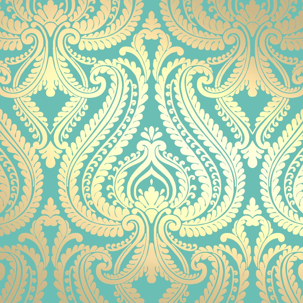 Gold And Turquoise Wallpaper