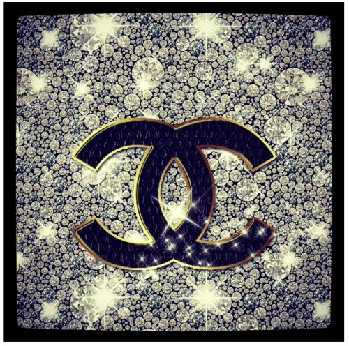 Gold Chanel Wallpaper