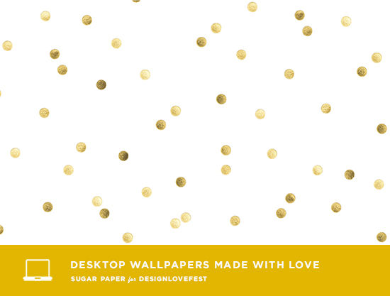 Gold Confetti Wallpaper