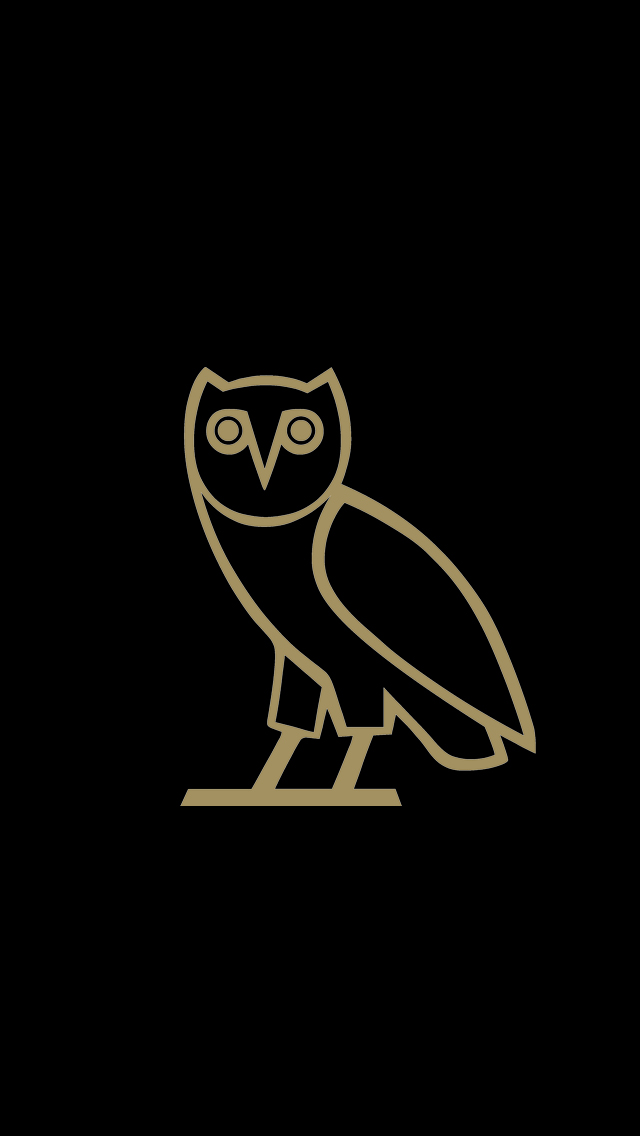 Gold Owl Wallpaper