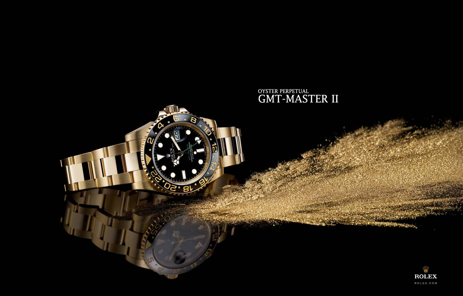 Gold Rolex Wallpaper