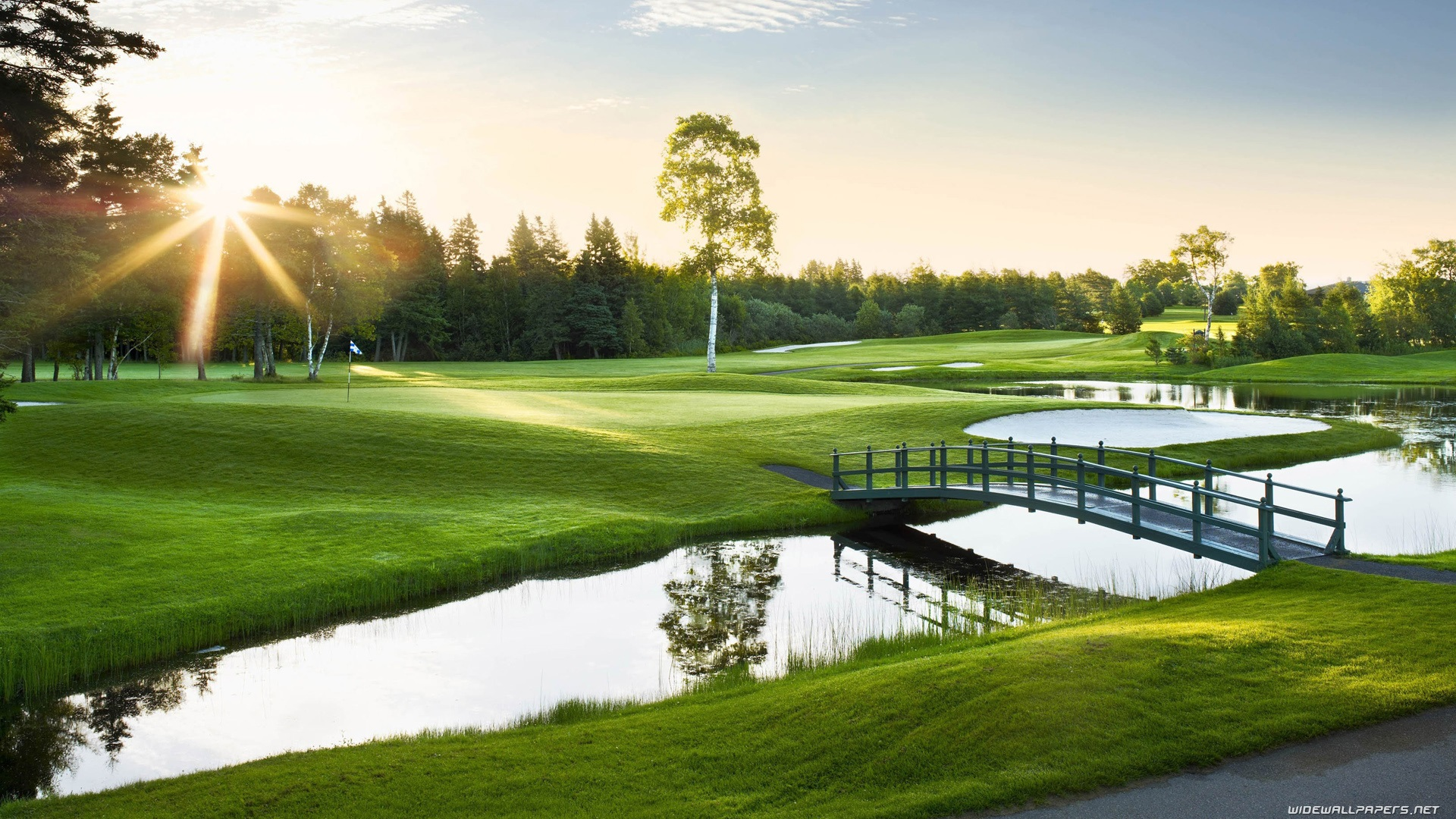 Golf Course Background Wallpaper