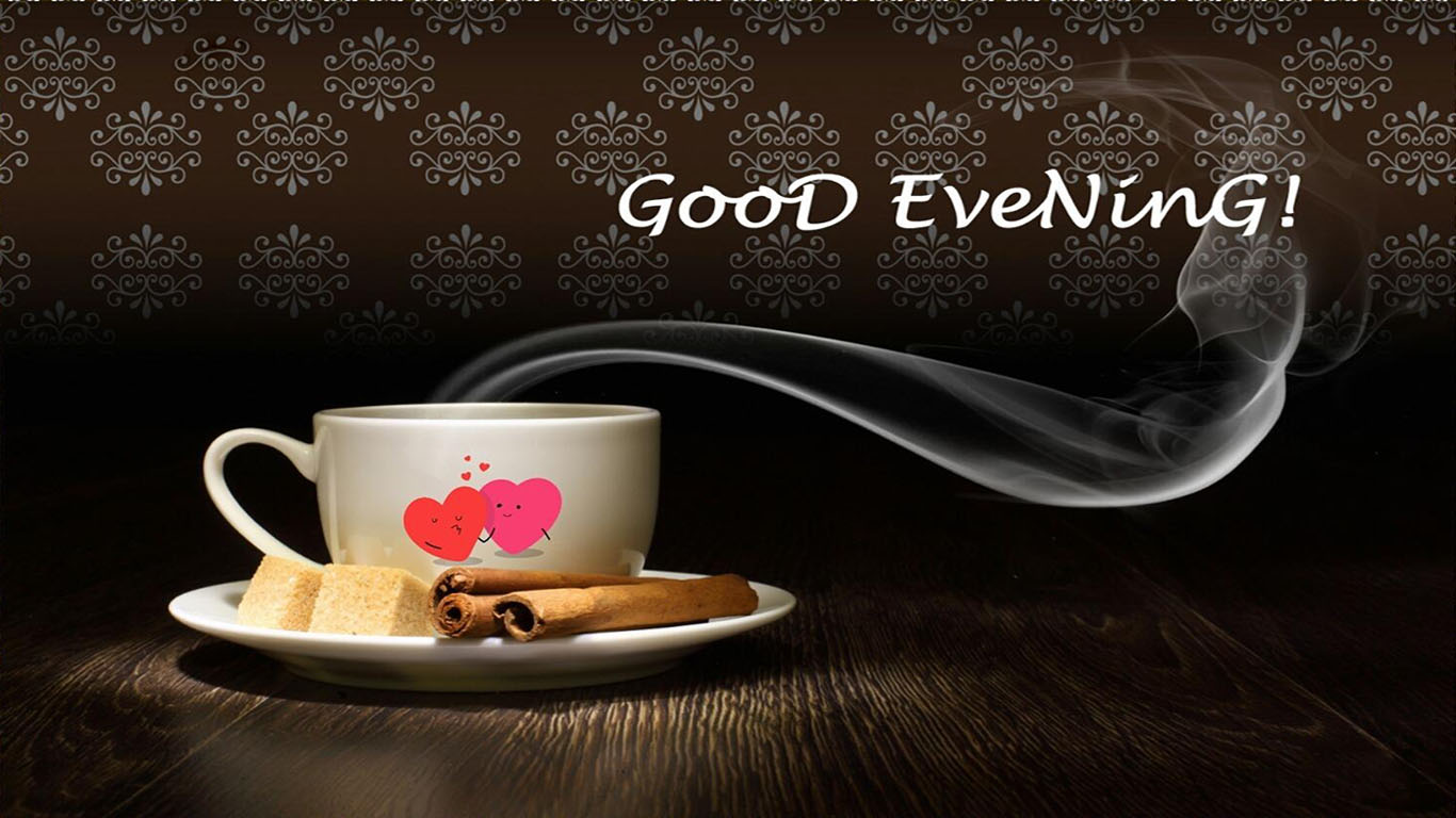 download good evening wallpapers with coffee gallery