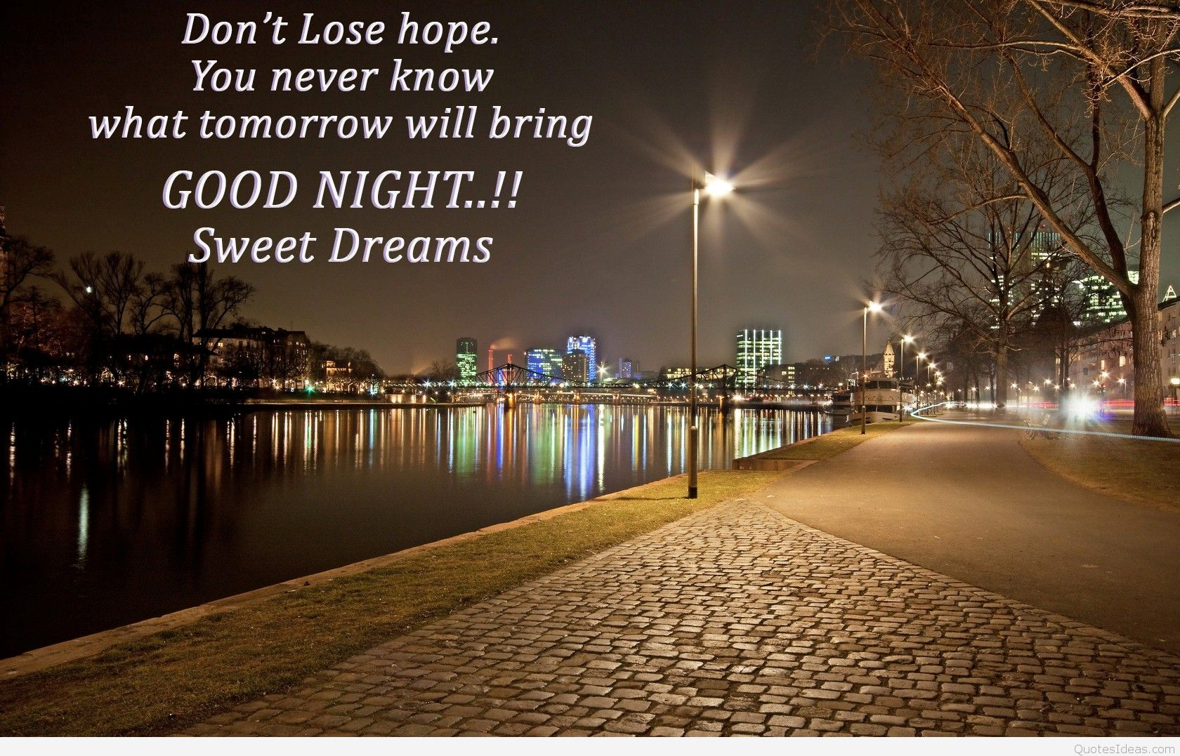 Good Night Wallpaper With Thought