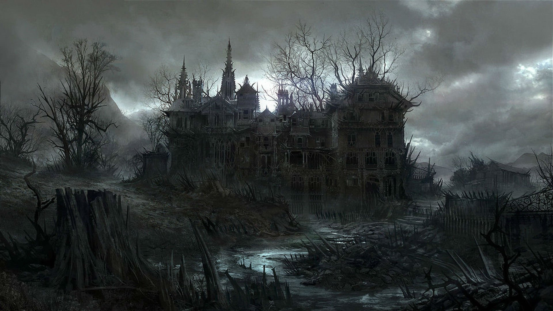 Gothic House Wallpaper