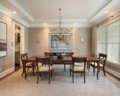 Grasscloth Wallpaper In Dining Room