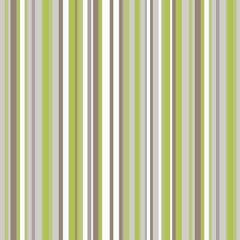 Green And Cream Striped Wallpaper