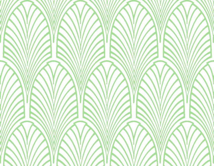 Green Art Deco Wallpaper