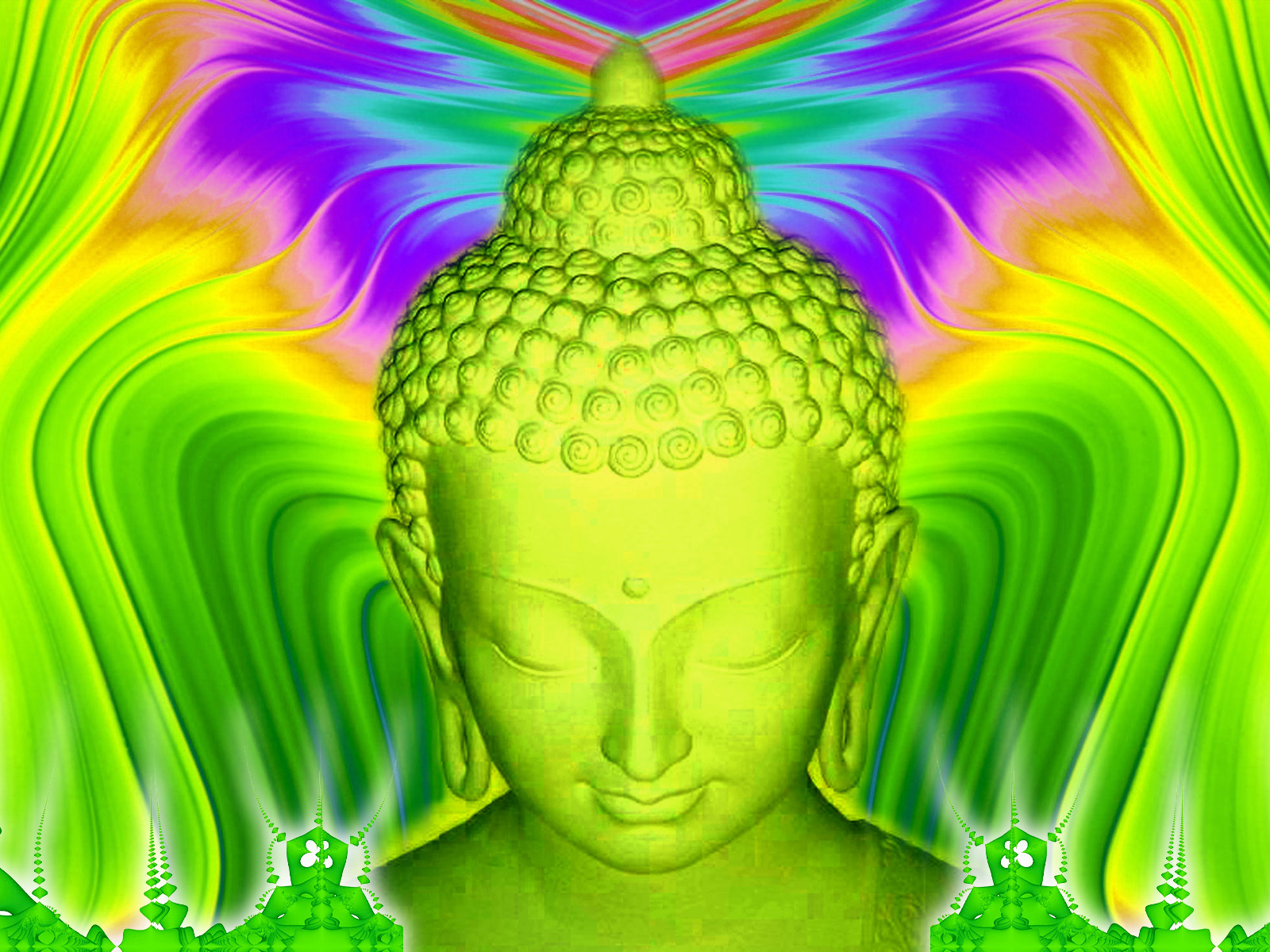 Green Buddha Wallpaper