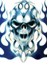 Green Flaming Skull Wallpaper
