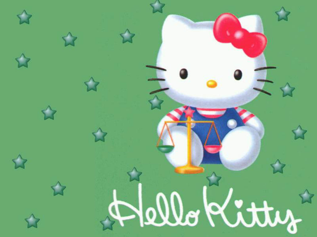 Green Hello Kitty Wallpaper