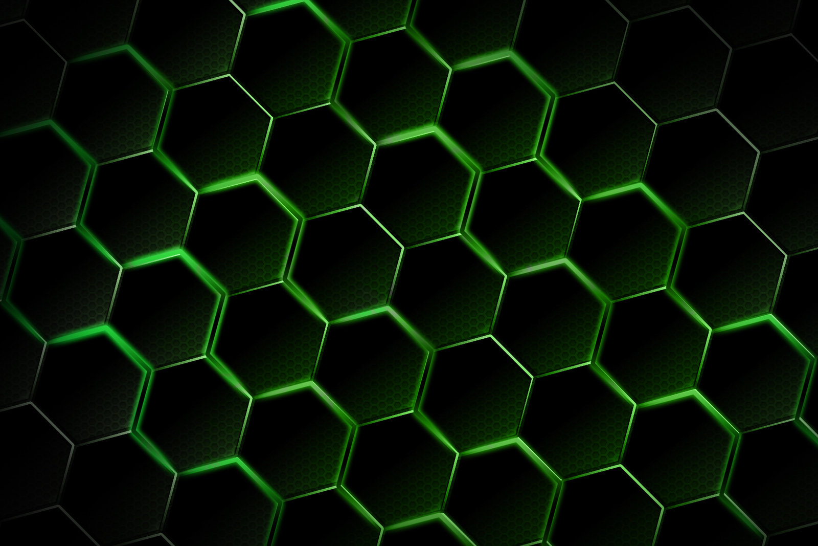 Green Honeycomb Wallpaper