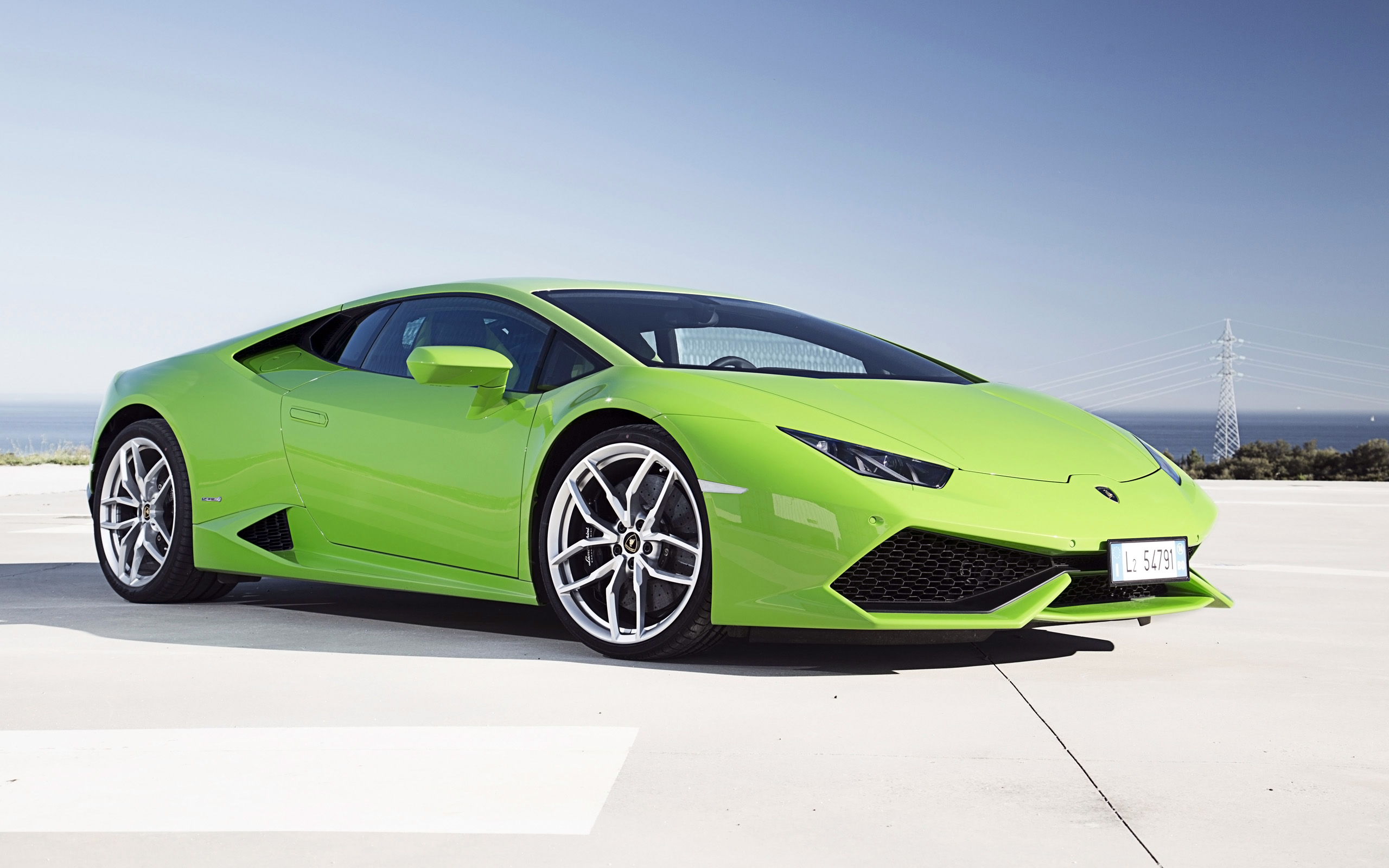 Green Lamborghini HD Wallpaper