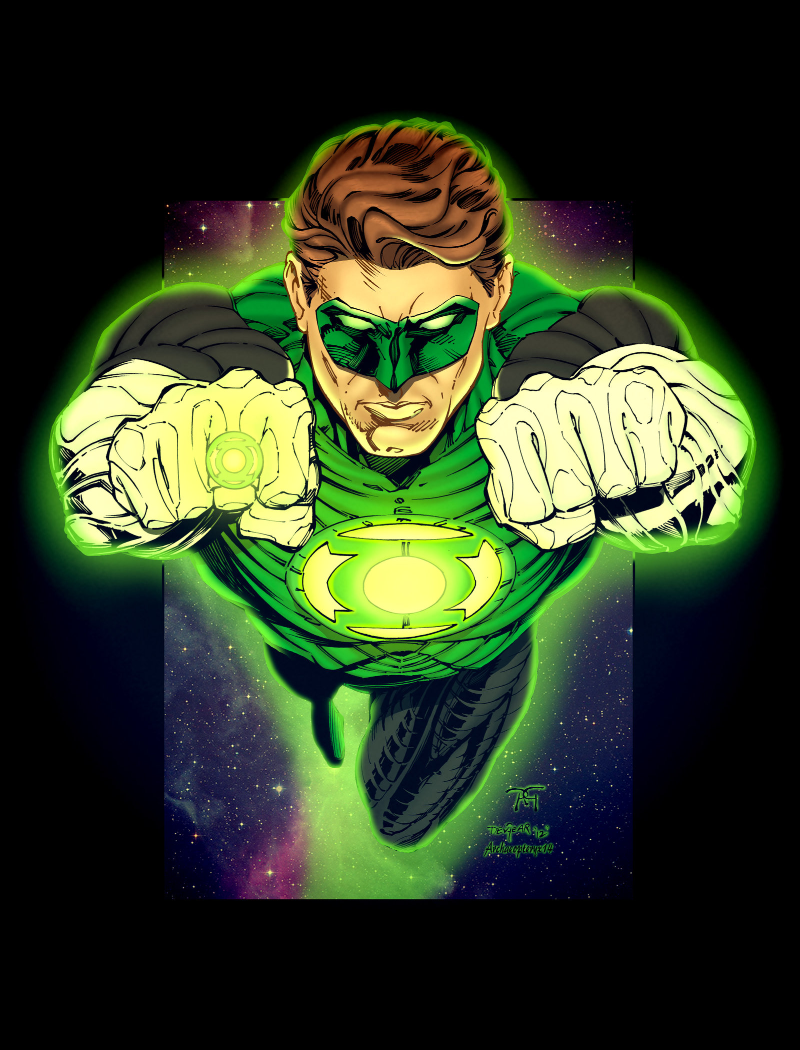 Green Lantern Blackest Night Wallpaper