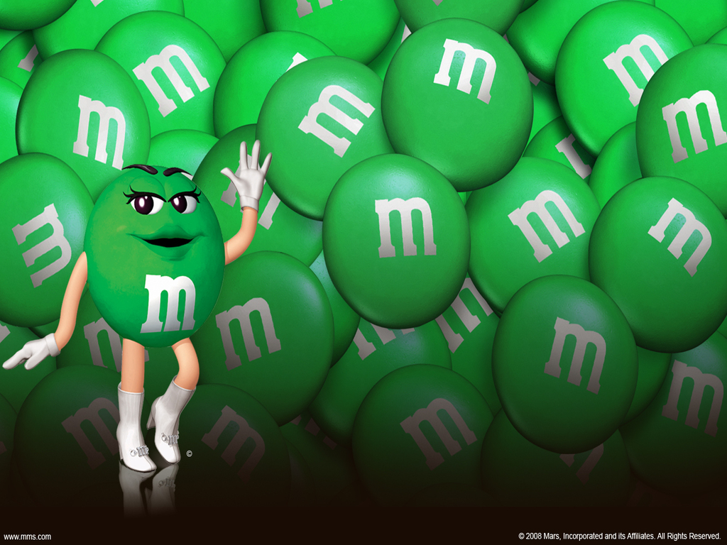 Green M&Amp;M Wallpaper