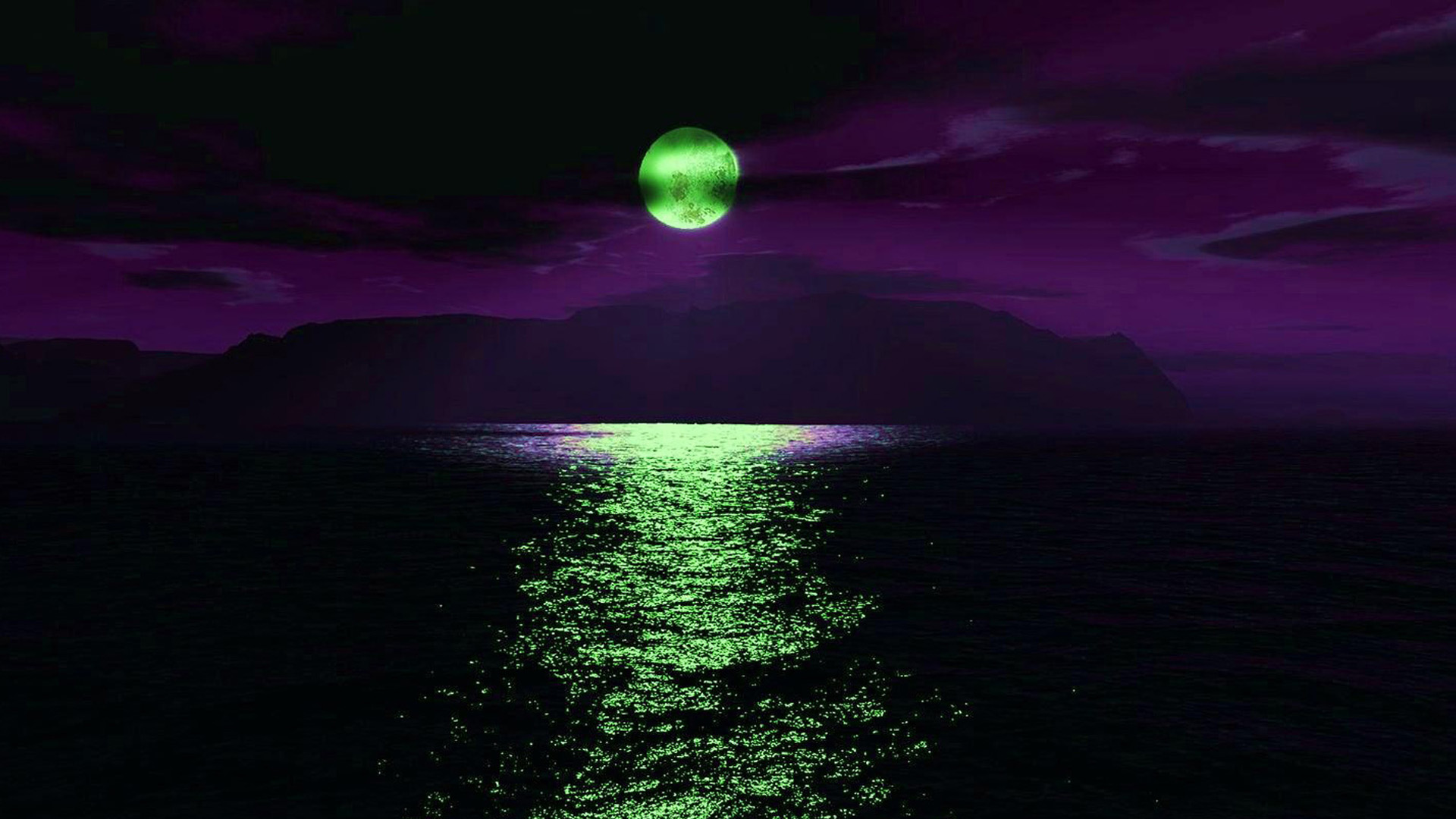 Green Moon Wallpaper