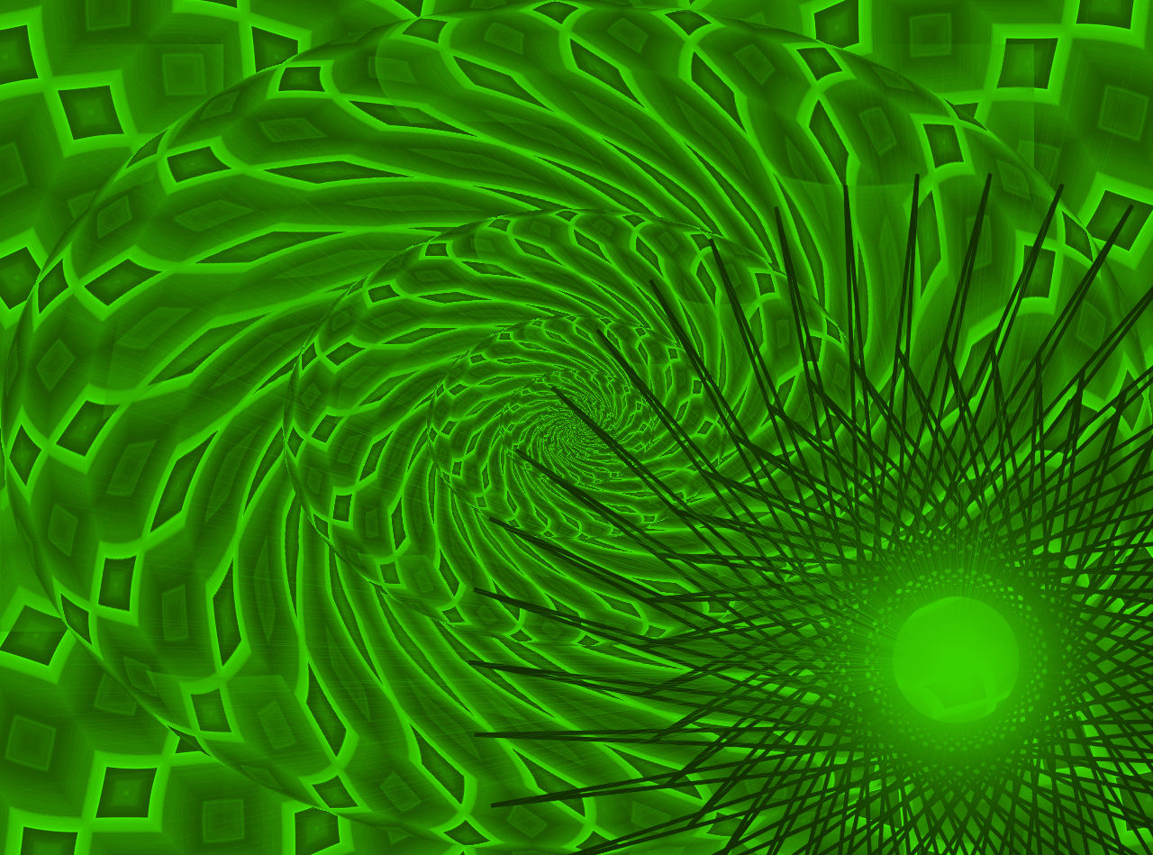 Green Trippy Wallpaper