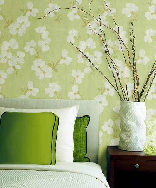 Green Wallpaper For Bedroom