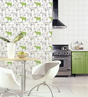 Download green wallpaper for kitchen gallery for Lime kitchen wallpaper