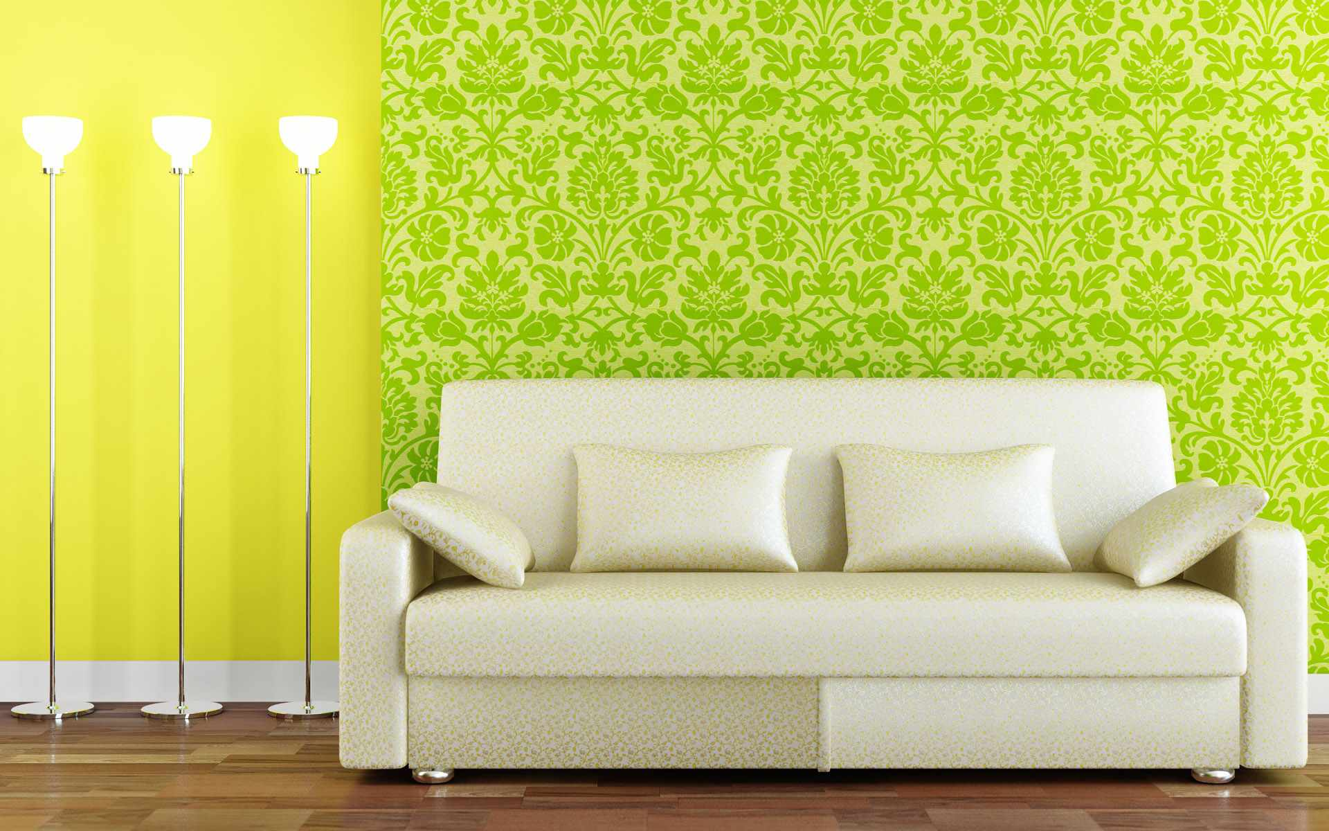 Green Wallpaper Room