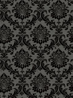 Grey And Black Damask Wallpaper