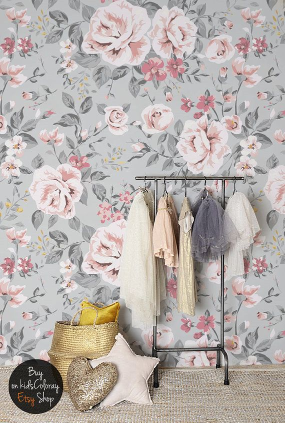 Download Grey And Pink Floral Wallpaper Gallery
