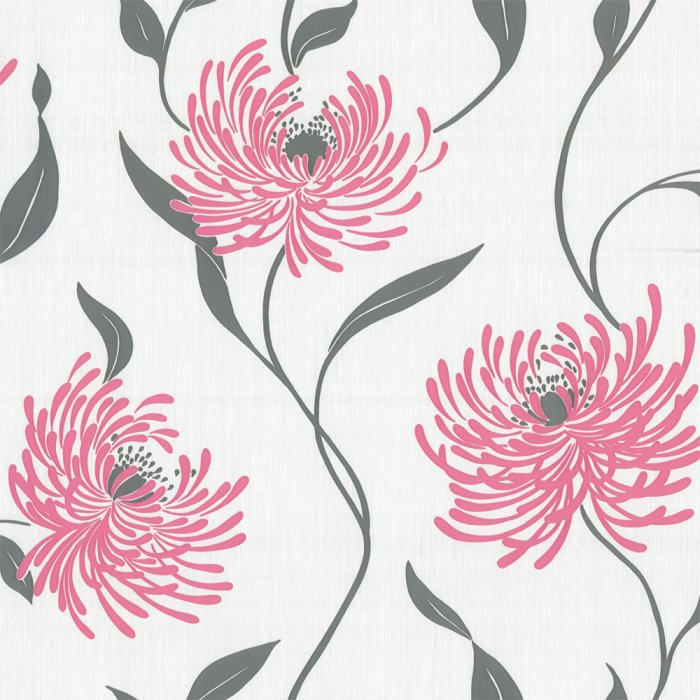 Pink Flower Wallpaper For Bedrooms Image Collections And Grey Gallery Decoration