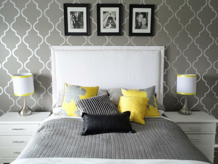 Grey And White Bedroom Wallpaper